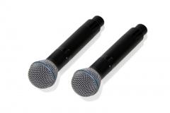 Двухканальная вокальная радиосистема MP-MIC-2V2. Два микрофона