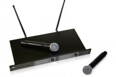 Двухканальная вокальная радиосистема MP-MIC-2V2: приёмник и два микрофона