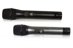 Вокальный радиомикрофон MP-MIC-V1, передатчик. Цвета: серебряный и черный