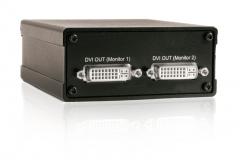 Усилитель-распределитель DVI-SPD 1×2. Вид со стороны «выхода»
