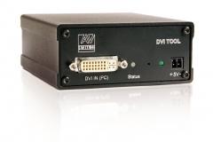 Усилитель-распределитель DVI-SPD 1×2. Вид со стороны «входа»