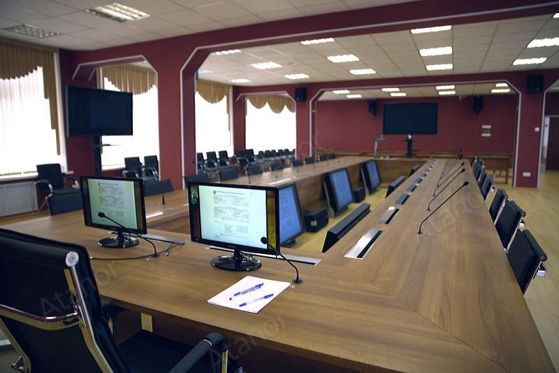 Оборудование AV Production было задействовано при оборудование конференц-зала проектно-конструкторском бюро вагонного хозяйства ОАО «РЖД».