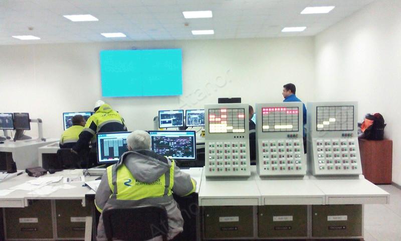 Видеостена под управлением центрального контроллера AV Production AV-MC-V12 в центральном диспетчерском центре химического холдинга «ФосАгро-Череповец»