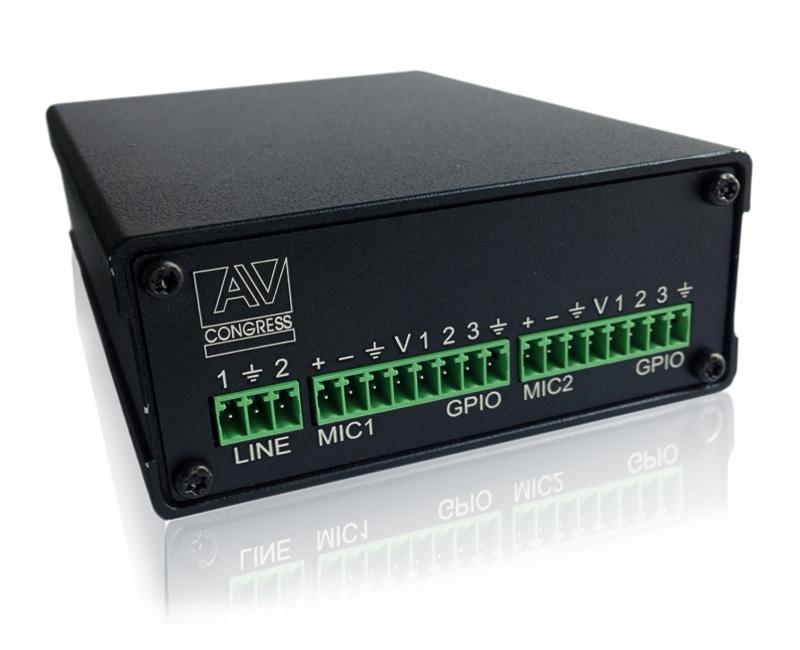 Модуль передачи звука по локальной сети (с поддержкой POE ) MS-CS-D20IP