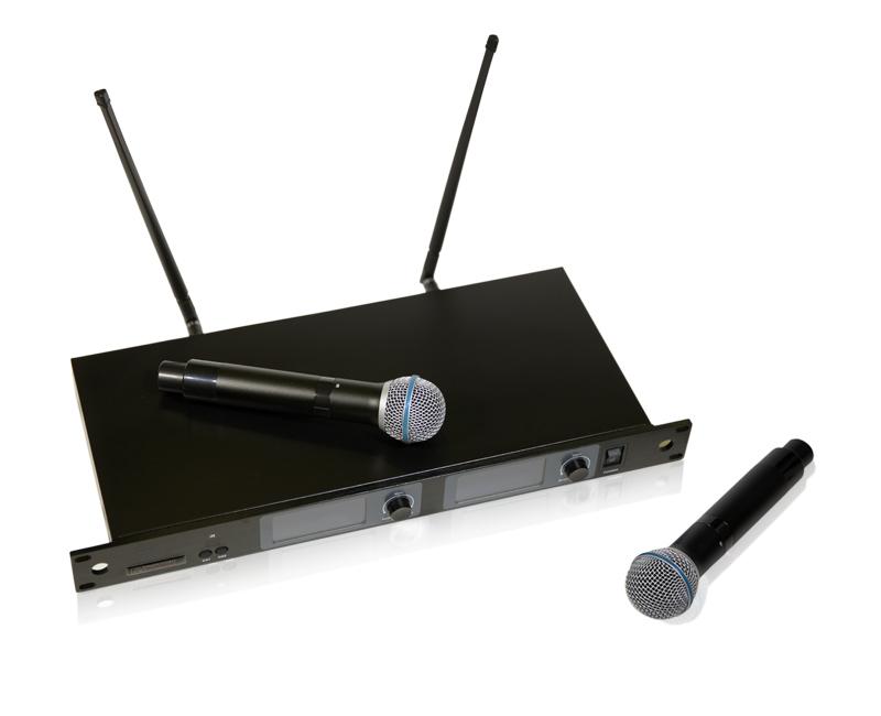 Двухканальная вокальная радиосистема MP-MIC-2V2