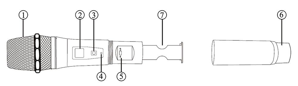 Передатчик вокального радиомикрофона MP-MIC-V1