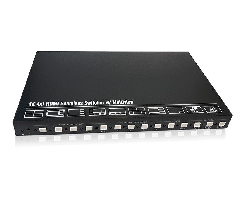 Четырехоконный мультивьювер сигналов MS-MD-41